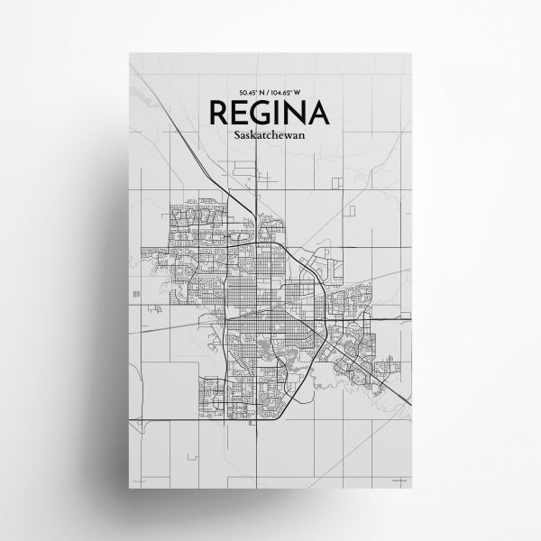 Regina City Map Poster by OurPoster.com