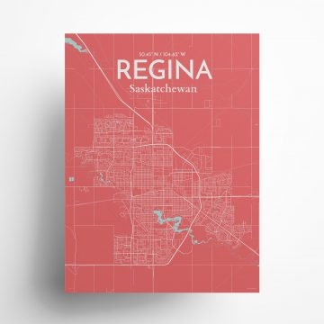"Regina city map poster in Maritime of size 18"" x 24"""