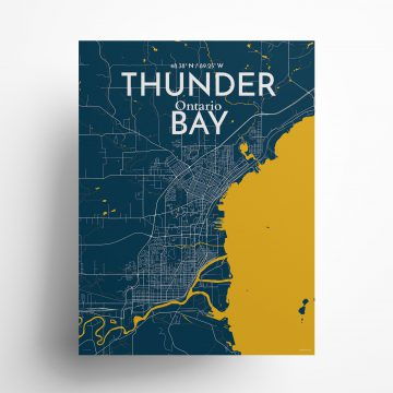 """Thunder Bay city map poster in Amuse of size 18"""" x 24"""""""