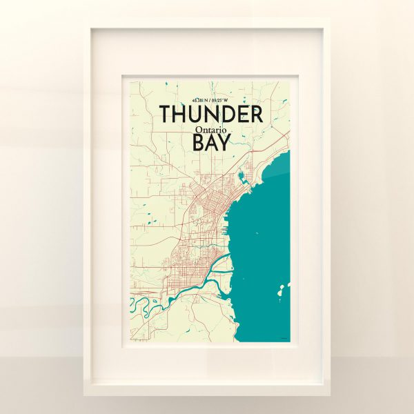 Thunder Bay City Map Poster by OurPoster.com