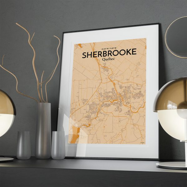 Sherbrooke City Map Poster by OurPoster.com