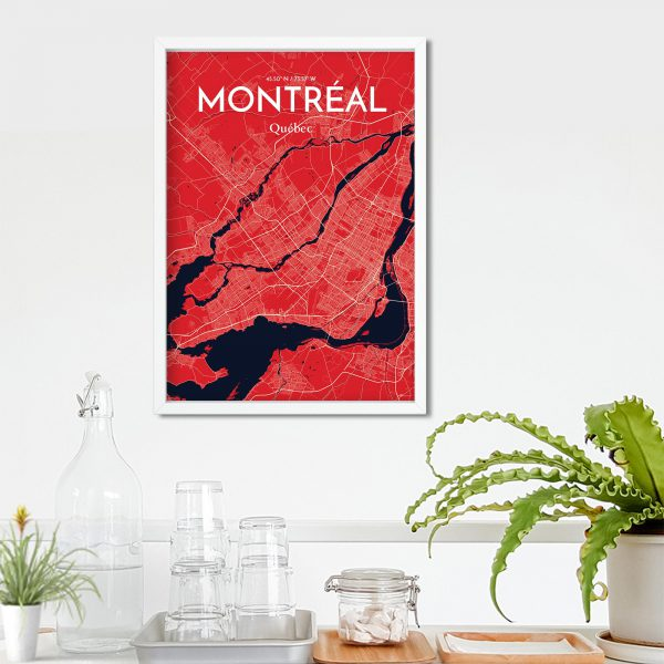 Montreal City Map Poster by OurPoster.com