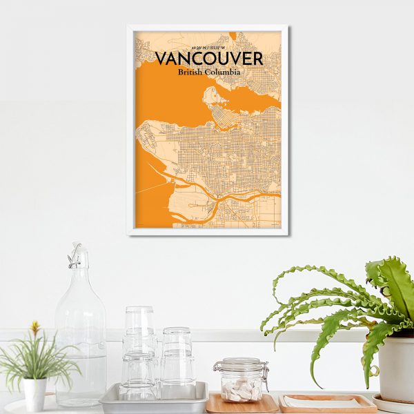 Vancouver City Map Poster by OurPoster.com