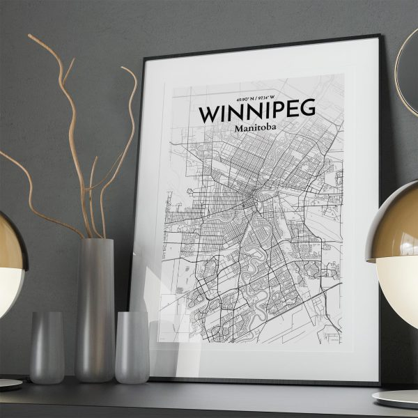 Winnipeg City Map Poster by OurPoster.com