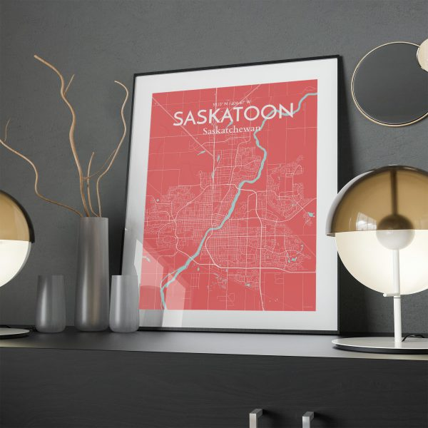 Saskatoon City Map Poster by OurPoster.com