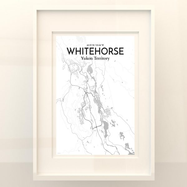 Whitehorse City Map Poster by OurPoster.com