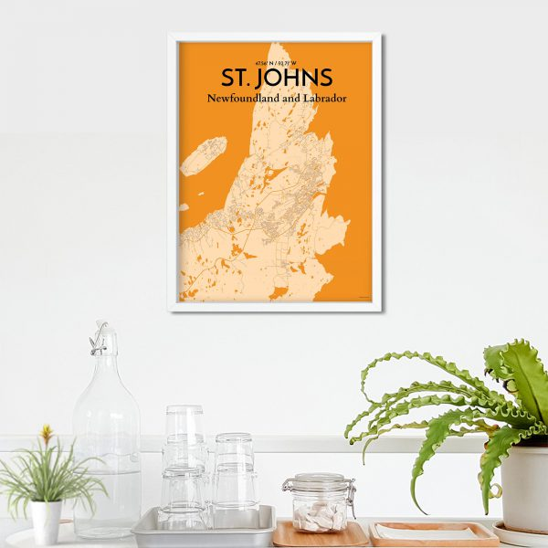 St. Johns City Map Poster by OurPoster.com