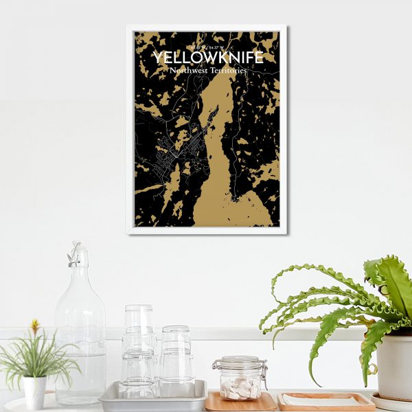 Yellowknife City Map Poster by OurPoster.com
