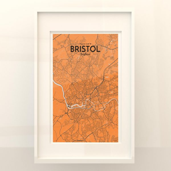 Bristol City Map Poster by OurPoster.com