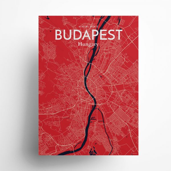 Budapest City Map Poster by OurPoster.com