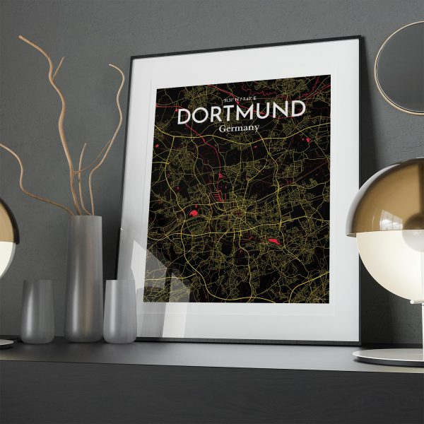 Dortmund City Map Poster by OurPoster.com