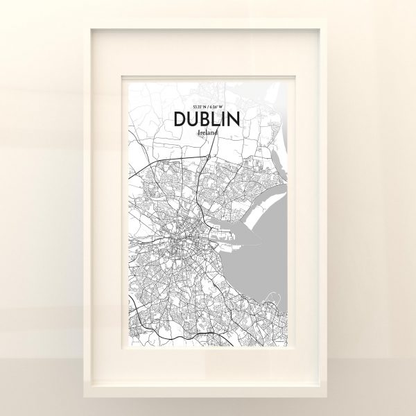 Dublin City Map Poster by OurPoster.com