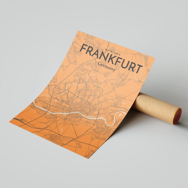 Frankfurt City Map Poster by OurPoster.com