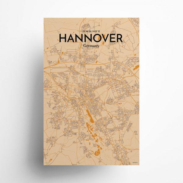 Hannover City Map Poster by OurPoster.com