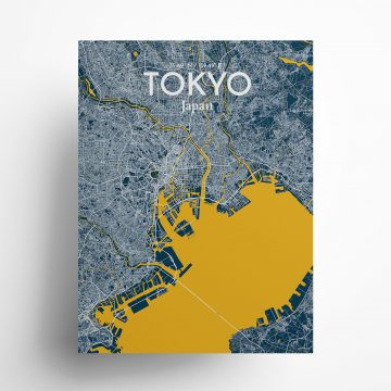 """Tokyo city map poster in Amuse of size 18"""" x 24"""""""