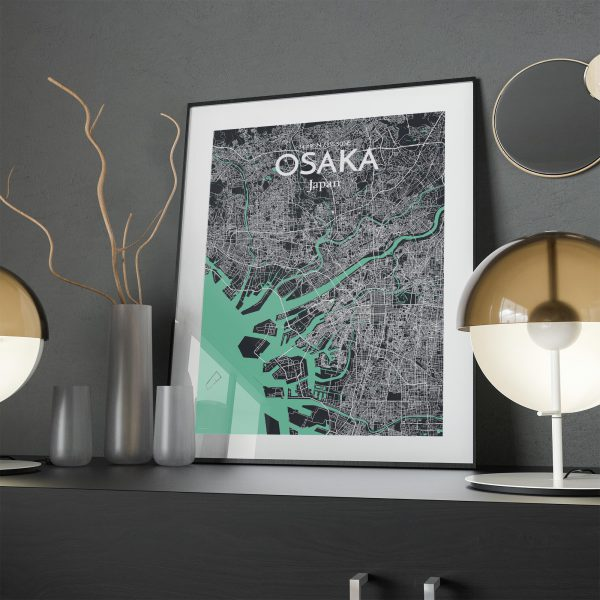 Osaka City Map Poster by OurPoster.com