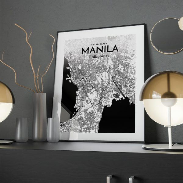 Manila City Map Poster by OurPoster.com