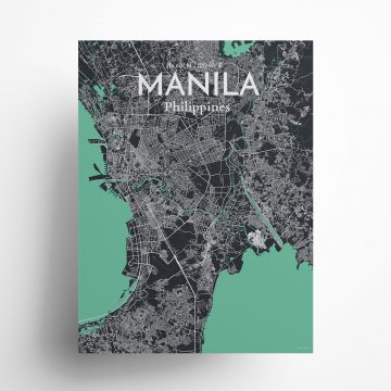 "Manila city map poster in Dream of size 18"" x 24"""