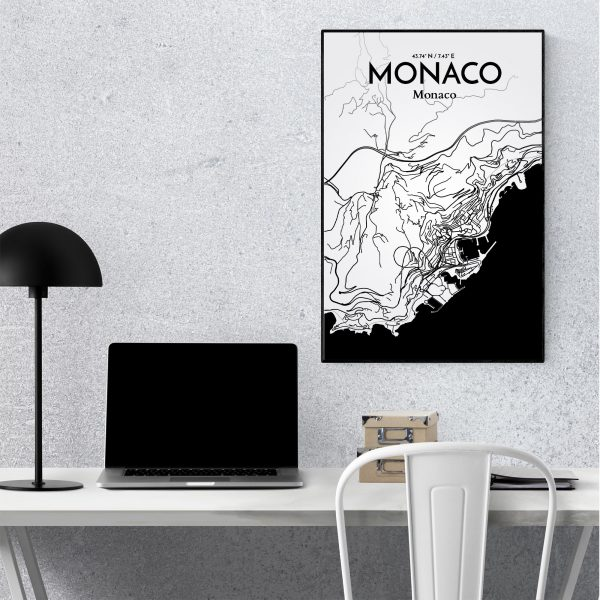 Monaco City Map Poster by OurPoster.com