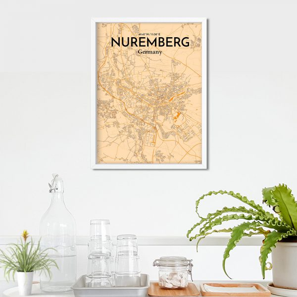 Nuremberg City Map Poster by OurPoster.com