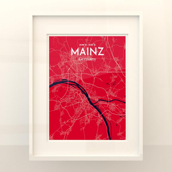 Mainz City Map Poster by OurPoster.com
