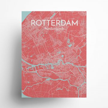 "Rotterdam city map poster in Maritime of size 18"" x 24"""