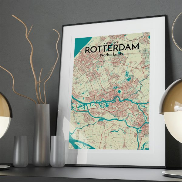 Rotterdam City Map Poster by OurPoster.com