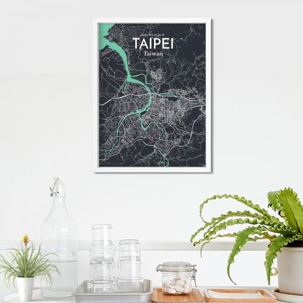 Taipei City Map Poster by OurPoster.com