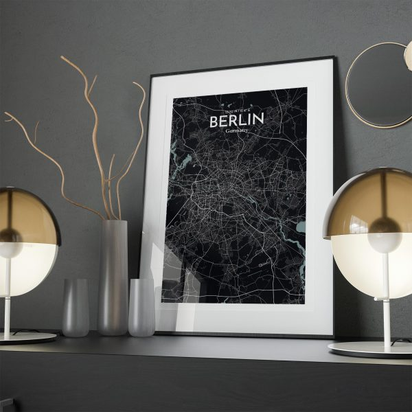 Berlin City Map Poster by OurPoster.com