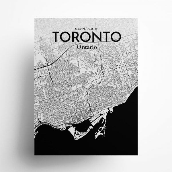 Toronto City Map Poster by OurPoster.com