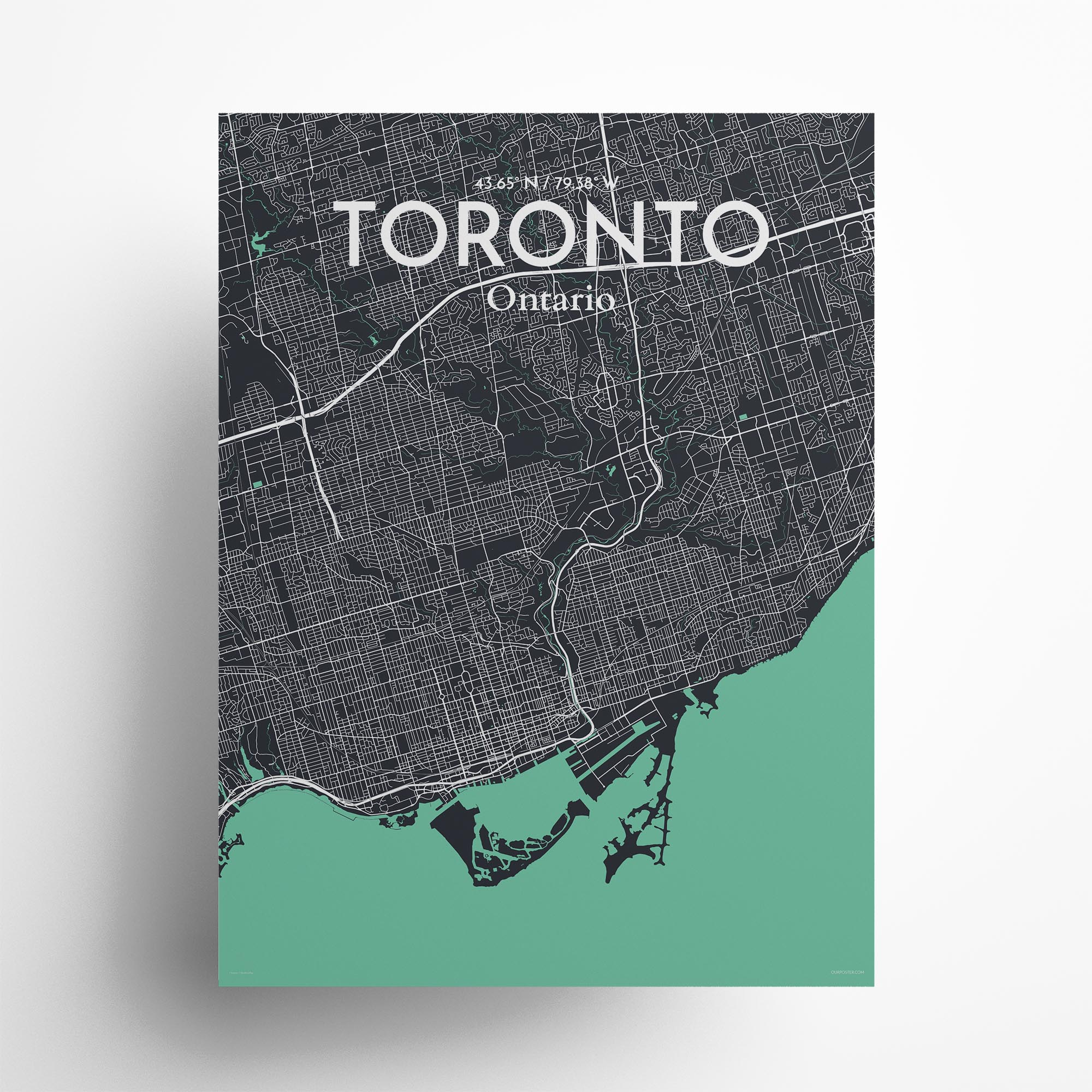 """Toronto city map poster in Dream of size 18"""" x 24"""""""