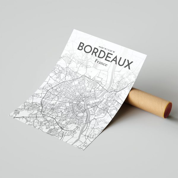 Bordeaux City Map Poster by OurPoster.com