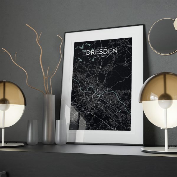 Dresden City Map Poster by OurPoster.com