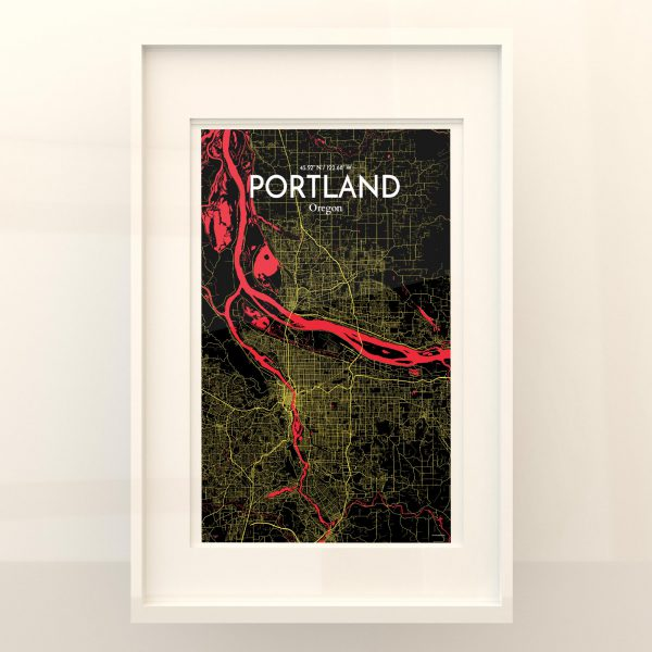 Portland City Map Poster by OurPoster.com