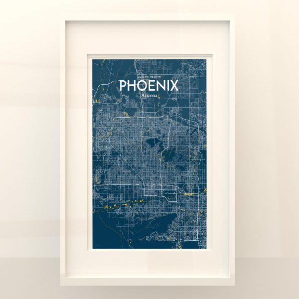 Phoenix City Map Poster by OurPoster.com