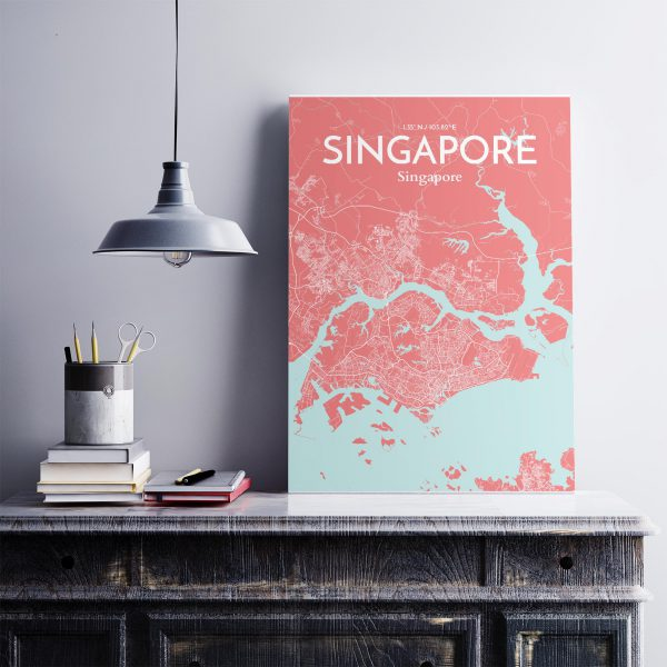 Singapore City Map Poster by OurPoster.com