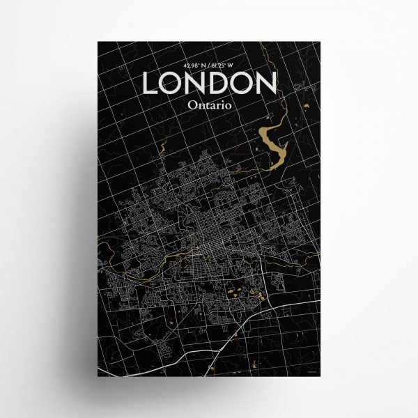 London City Map Poster by OurPoster.com